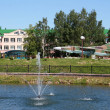 Stock Photo: Agrotown in Belarus