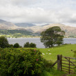 Overlook of Coniston Water in Lake District — Stock Photo