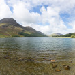 View down length of Buttermere in Lake District — Stock Photo