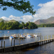 Постер, плакат: Boats on Derwent Water in Lake District