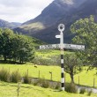 Buttermere sign in english lake district — Stock fotografie