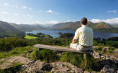 Derwent Water from Castlehead viewpoint — Stock Photo