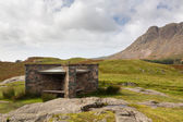 Hikers shelter at Wast Water in lake district — Stock Photo