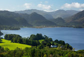 Derwent Water from Castlehead viewpoint — Stok fotoğraf