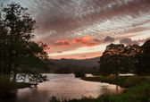 Sunset over Rydal Water in Lake District — Stock Photo