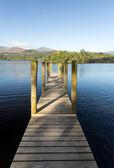 Pier on Derwent Water in Lake District — Stock Photo