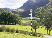 Buttermere zeichen im englischen lake district — Stockfoto