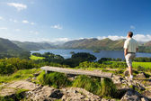 Derwent Water from Castlehead viewpoint — Stockfoto