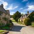 图库照片: Old cotswold stone houses in Icomb