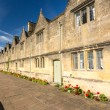 Traditional cotswold stone almshouses — Stock Photo