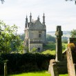 Stock Photo: Churchyard and lodges in Chipping Campden