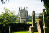 Churchyard and lodges in Chipping Campden — Stock Photo