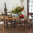 Old fashioned colonial kitchen table — Stock Photo #13618270