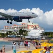 Airplane lands at Princess Juliana airport - Photo