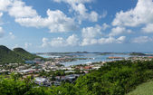 View over Simpson Bay Lagoon St Martin — Stock Photo