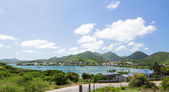 View over Cul de Sac on St Martin — Foto Stock
