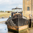 Old Sailing barge house boat at Faversham Kent — Stock Photo