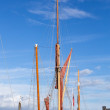 Old Thames Sailing barge at Faversham Kent — Stock Photo