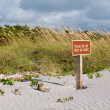 Keep off dunes sign in Florida — Stock Photo