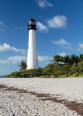 Cape Florida lighthouse in Bill Baggs — Stock Photo