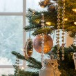 Decorations on christmas tree detail — Stock Photo #17969217