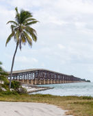 Florida Keys rail bridge and heritage trail — Stock Photo