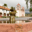 Cloudy stormy day at Santa Barbara Mission — Stock Photo