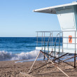 California lifeguard post on sandy beach — Stock fotografie