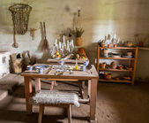 Cucina tradizionale in missione in california — Foto Stock