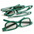 Pair of 3-d glasses for movies cinema — ストック写真