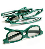 Pair of 3-d glasses for movies cinema — Stock Photo