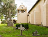 Cloudy day at Santa Ines Mission California — Stock Photo