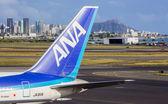 ANA Boeing 767 at Honolulu airport — Stock Photo