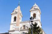 Trinita dei Monti church Spanish steps — Stock Photo