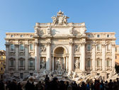 Trevi fountain details in Rome Italy — Foto Stock