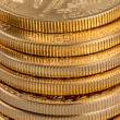 Collection of one ounce gold coins — Stock Photo #22810042