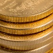 Collection of one ounce gold coins — Stock Photo #22810124