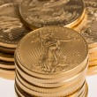 Collection of one ounce gold coins — Stock Photo #22810154