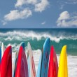 Stock Photo: Surfboards at Lumahai beach Kauai