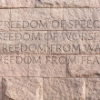 Stock Photo: Quote at Roosevelt memorial Washington DC
