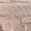 Quote at Roosevelt memorial Washington DC — Stock fotografie