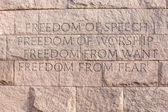 Quote at Roosevelt memorial Washington DC — Stock Photo