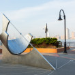 Equatorial Sundial at Jersey City Exchange Place — Stock Photo