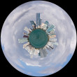 View of Miami Skyline as Little Planet — Stockfoto