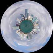 View of Miami Skyline as Little Planet — Stock Photo