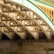 Underneath Southwark Bridge in London — Stock Photo