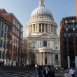 Stock Photo: St Pauls Cathedral Church London England at dusk