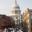 St Pauls Cathedral Church London Millenium Bridge — Stock Photo