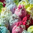 Close up bags of Lavender in gift pouches — Stok Fotoğraf #26544061