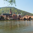 Old bridge into town of Heidelberg Germany — Stock Photo